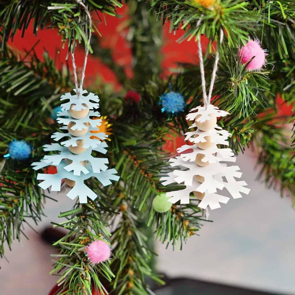 snowflake paper trees