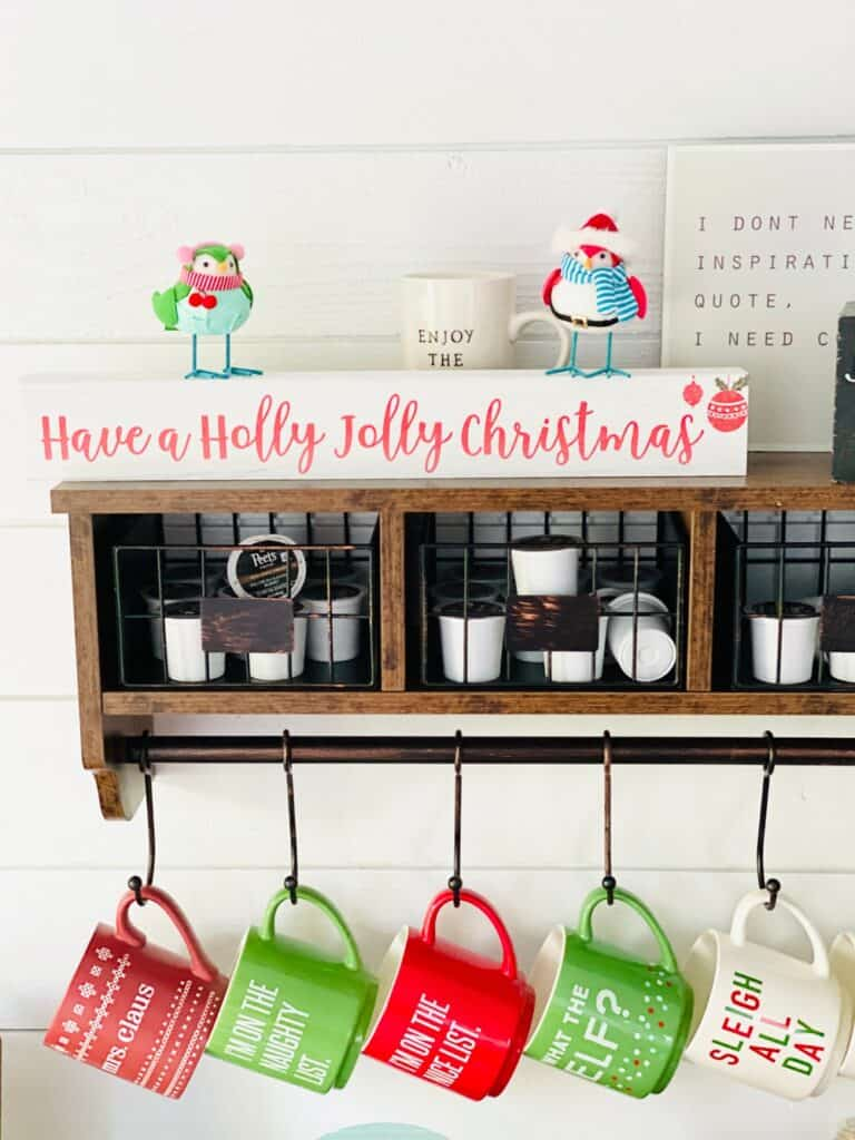 Christmas Mugs Coffee Bar Shed