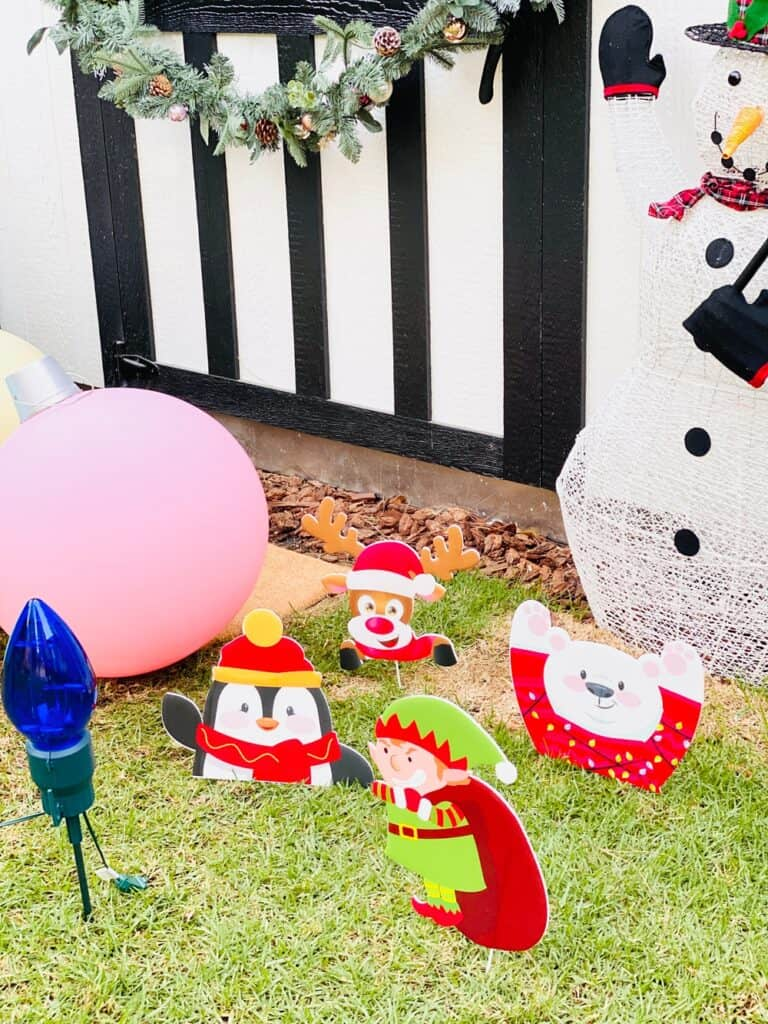 Outdoor staked christmas decorations
