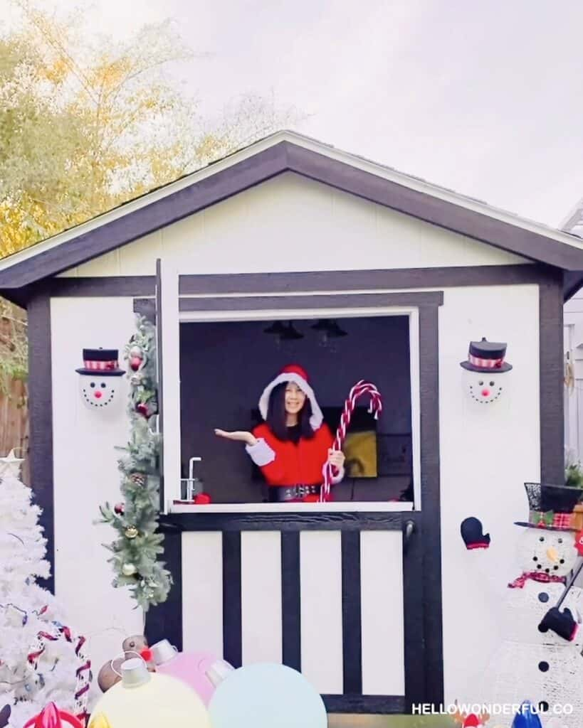 Christmas shed playhouse for kids