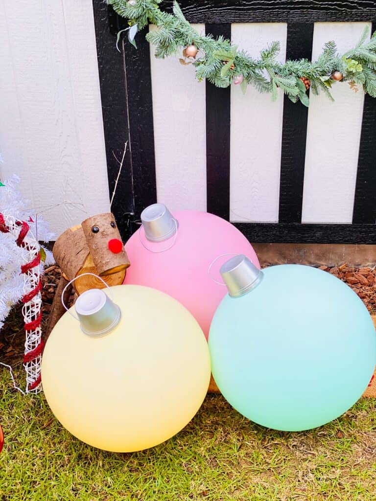 Giant DIY Christmas Ornaments