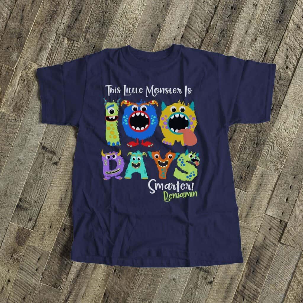 100 days of school monster shirt ideas