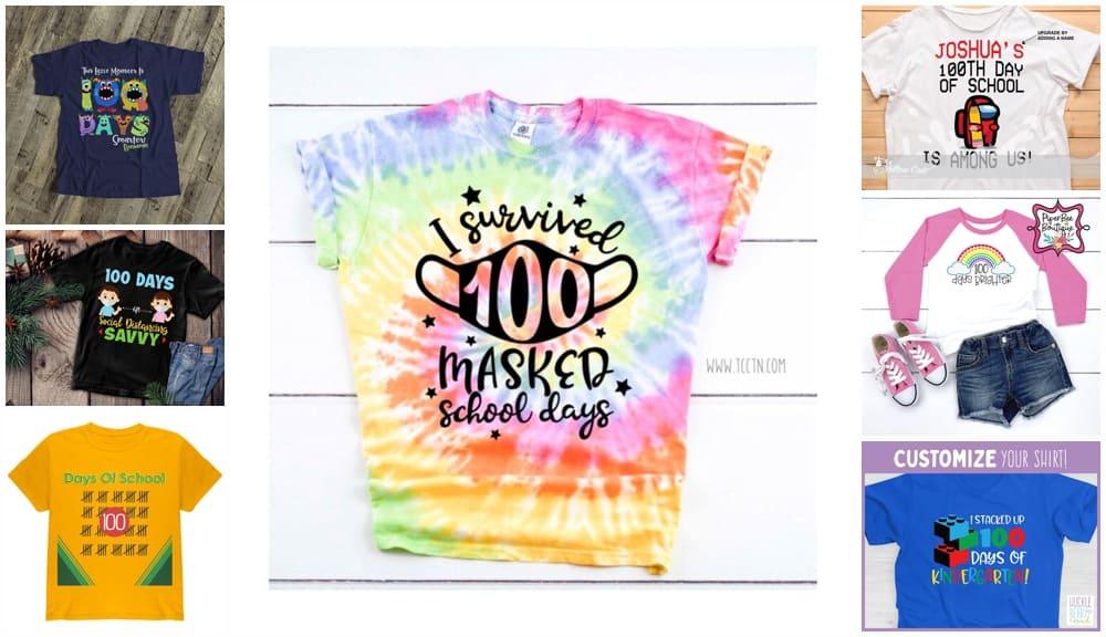 100 days of school 2021 shirt ideas