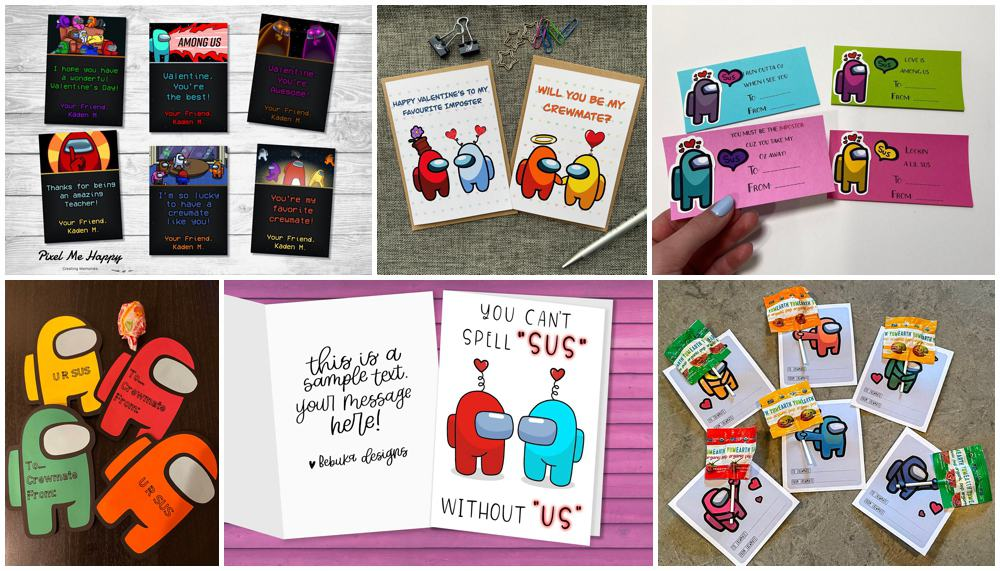 Best Among Us Valentine Cards