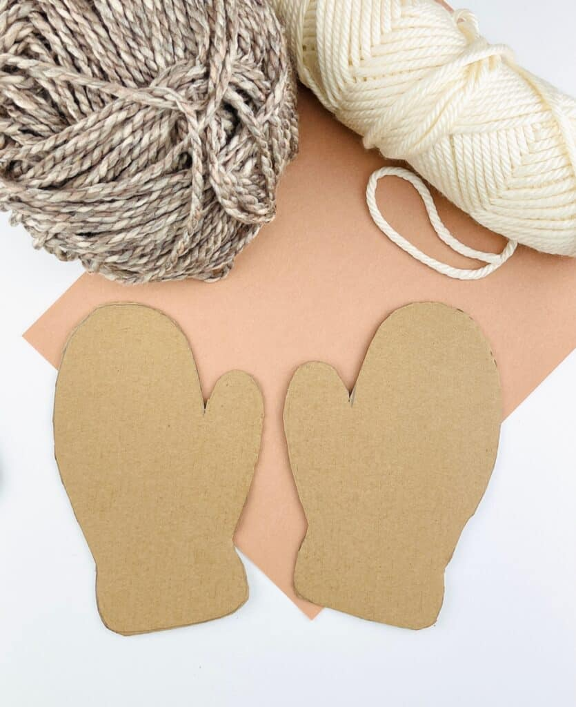 cardboard mitten craft