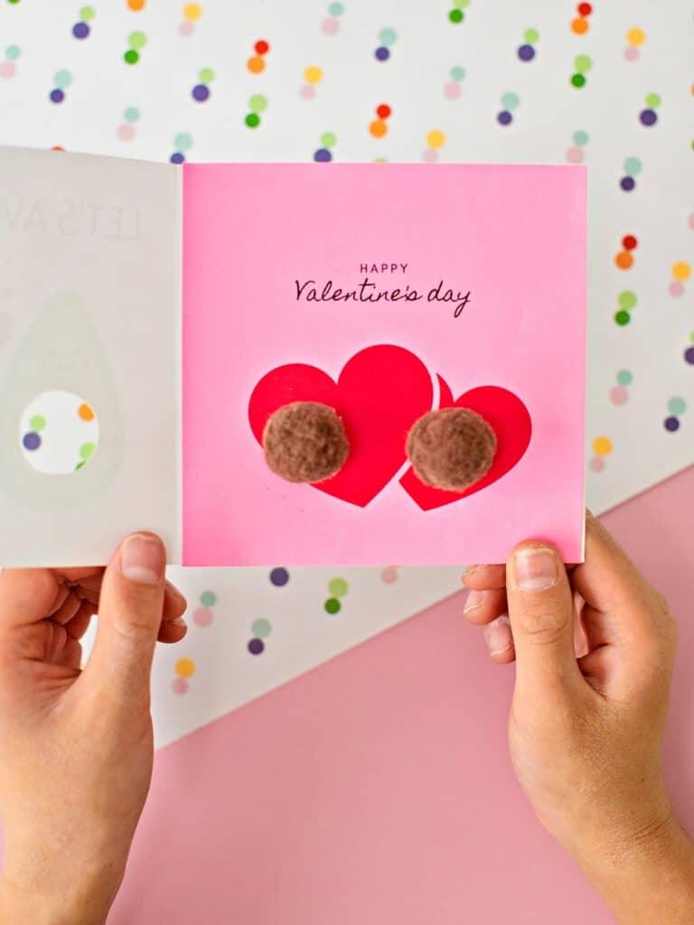 Valentine Pom Pom Card