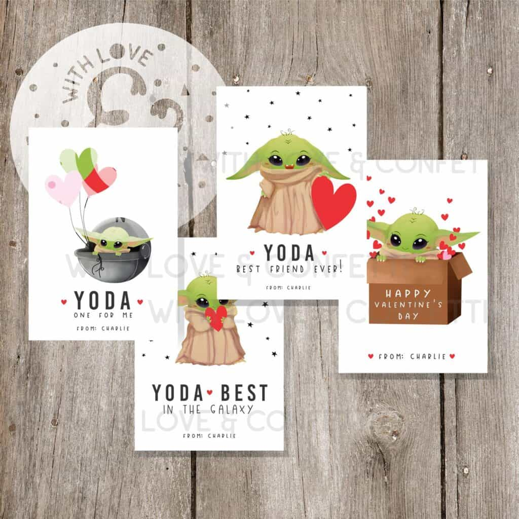 baby yoda printable valentines
