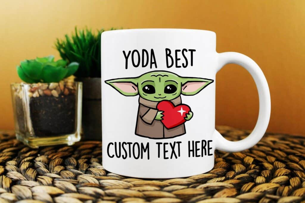 baby yoda custom mug