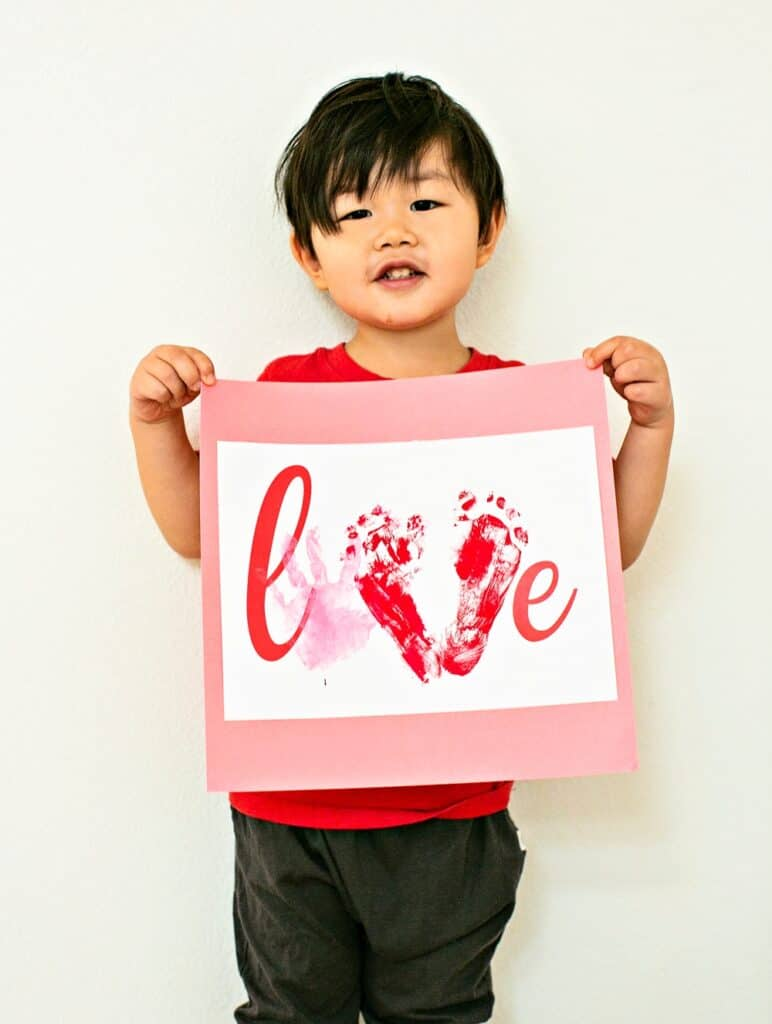 Handprint Valentine Art Project