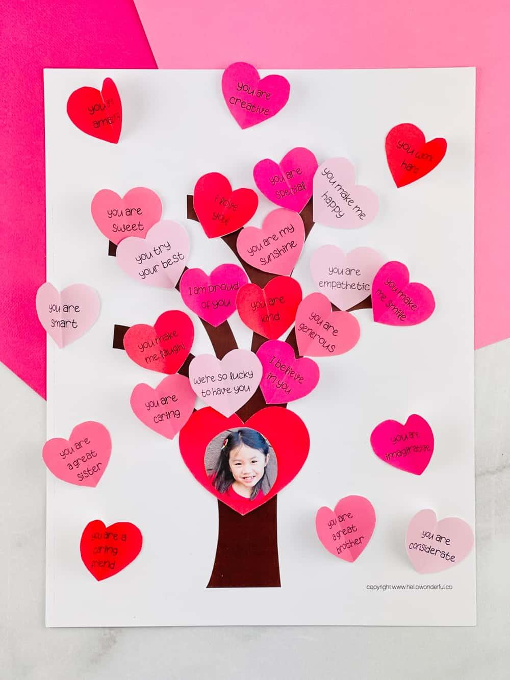 valentine paper heart tree