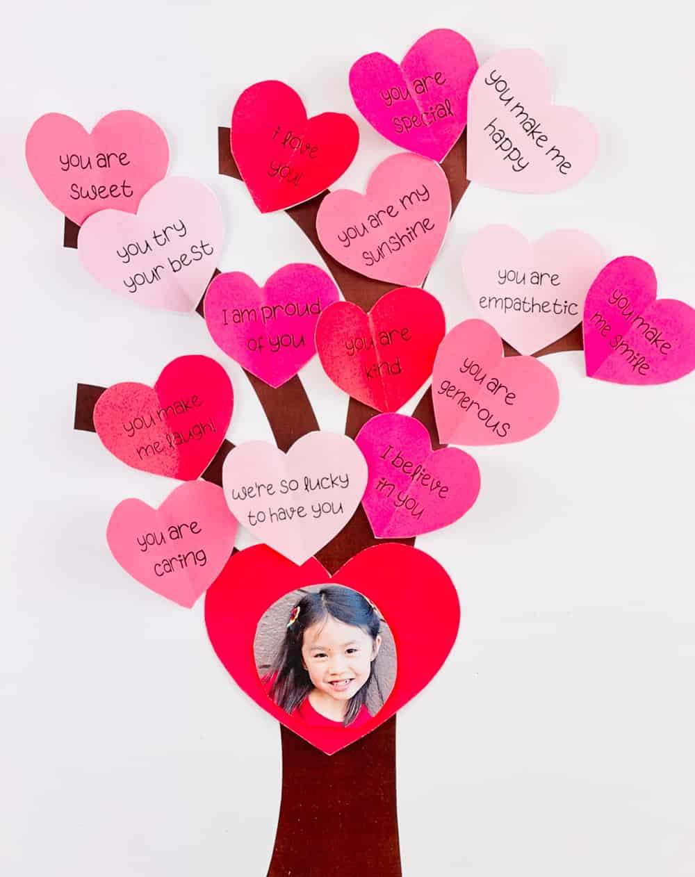 Paper Heart Tree Valentine Craft for Kids