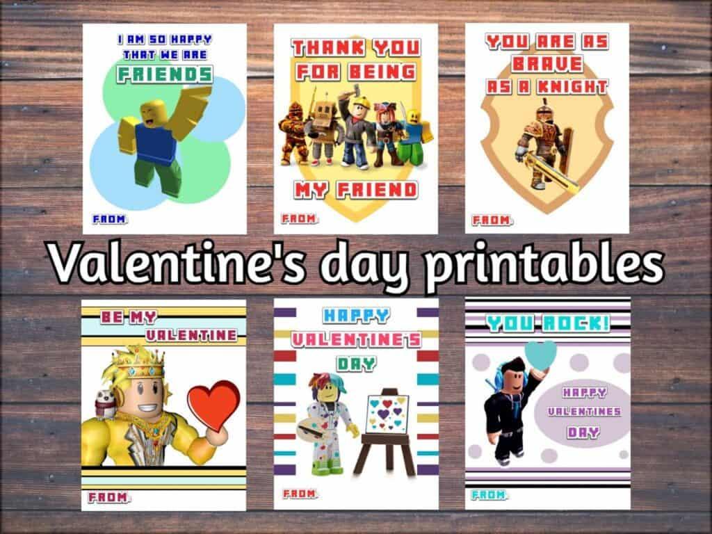 roblox valentine printables