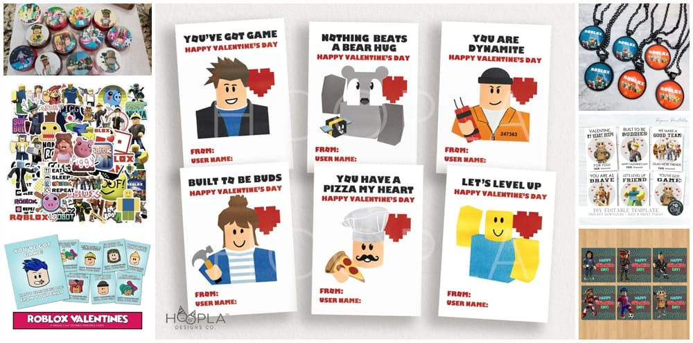 Roblox Valentines for Kids. Roblox Valentine Gifts.