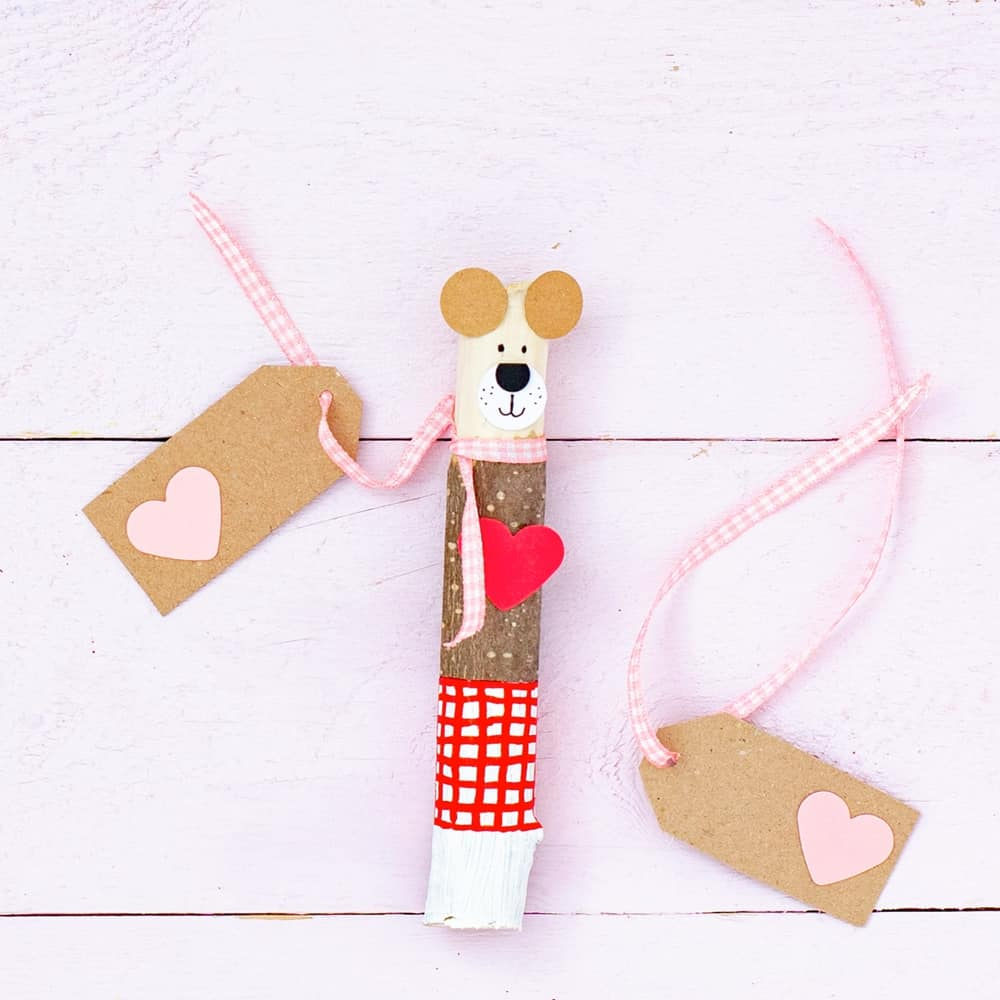 valentine stick nature craft kids