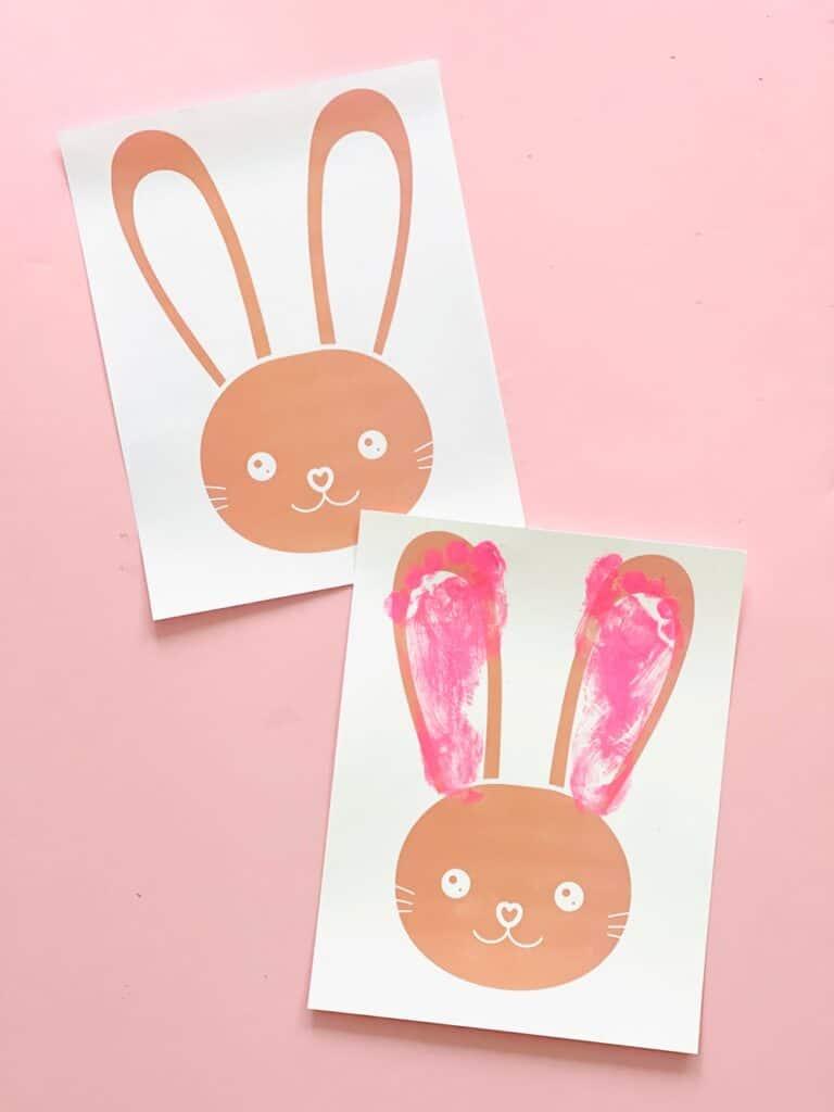 Free printable Bunny Easter Craft