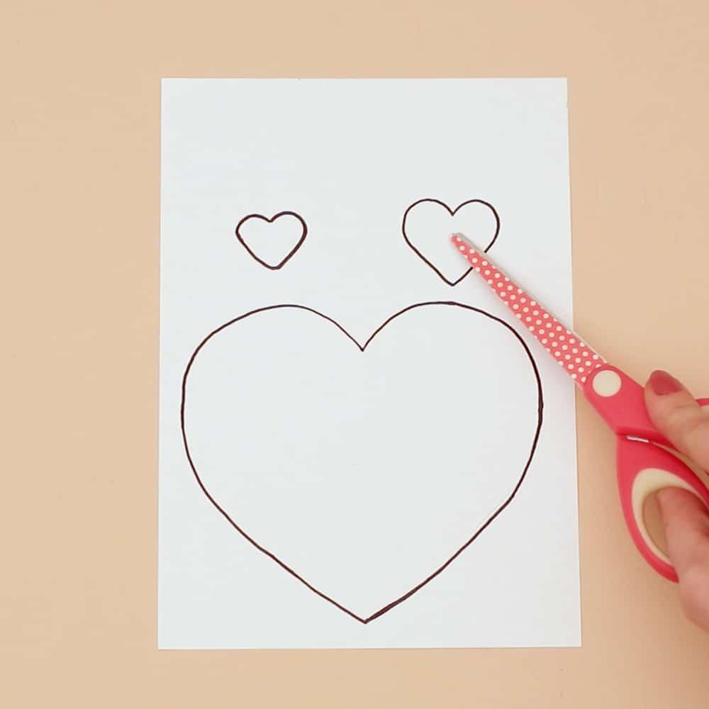 cat heart card template
