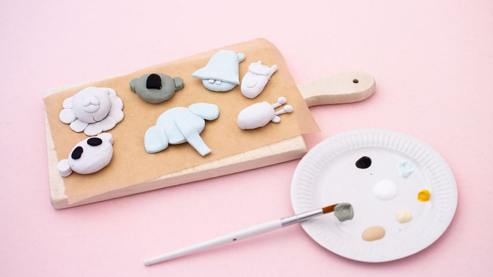 HOW TO MAKE CLAY ANIMALS - creative clay craft for kids
