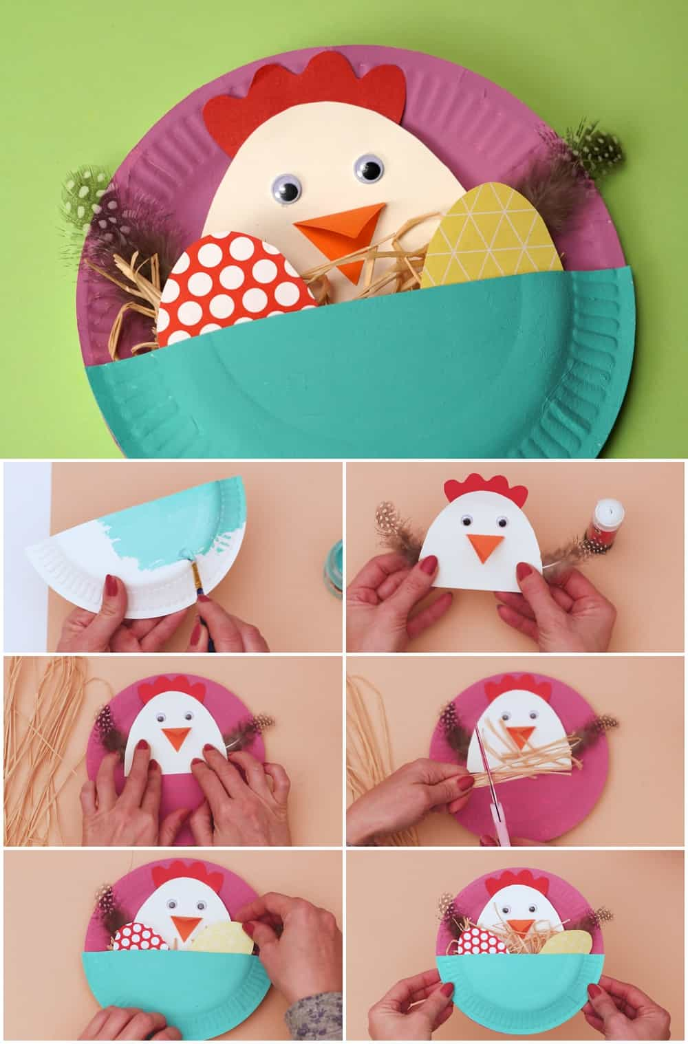 paper plate Easter Craft for Kids