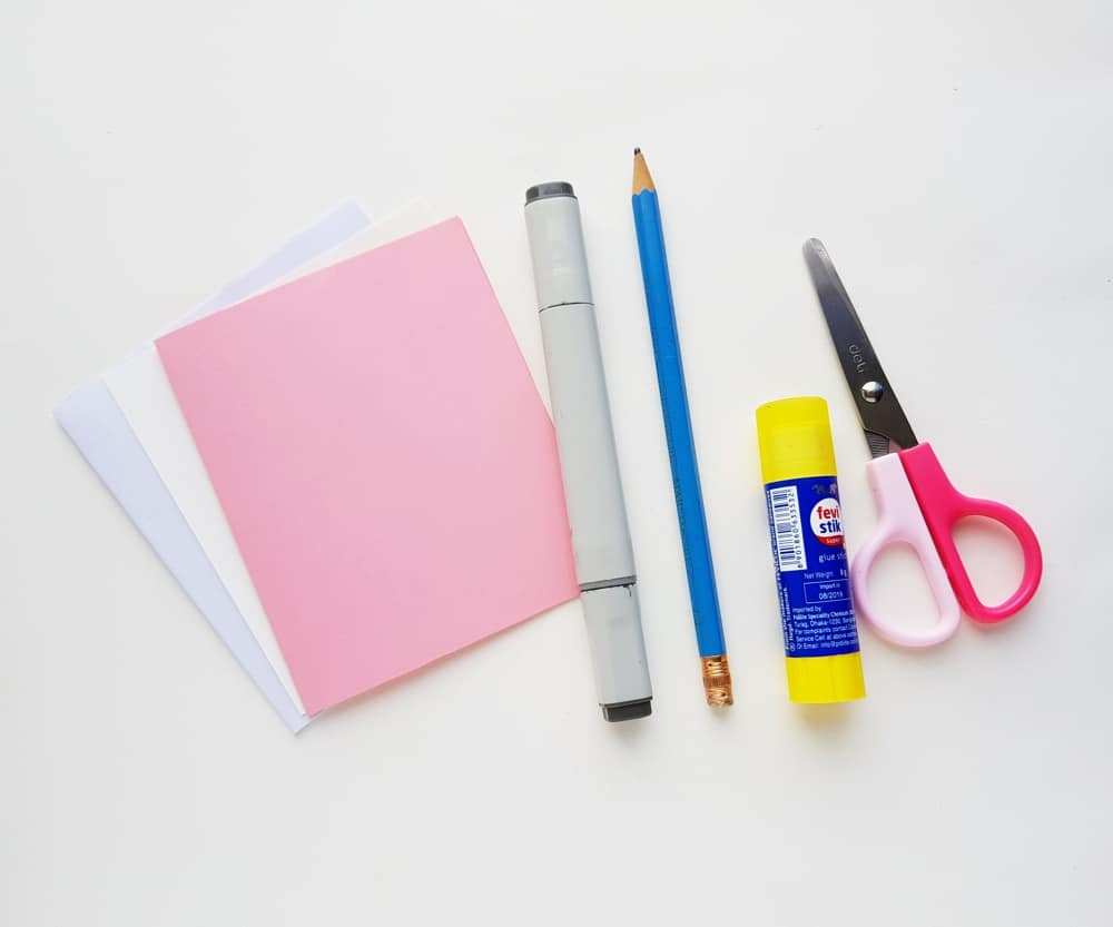 Materials for Easter Pop Up Card