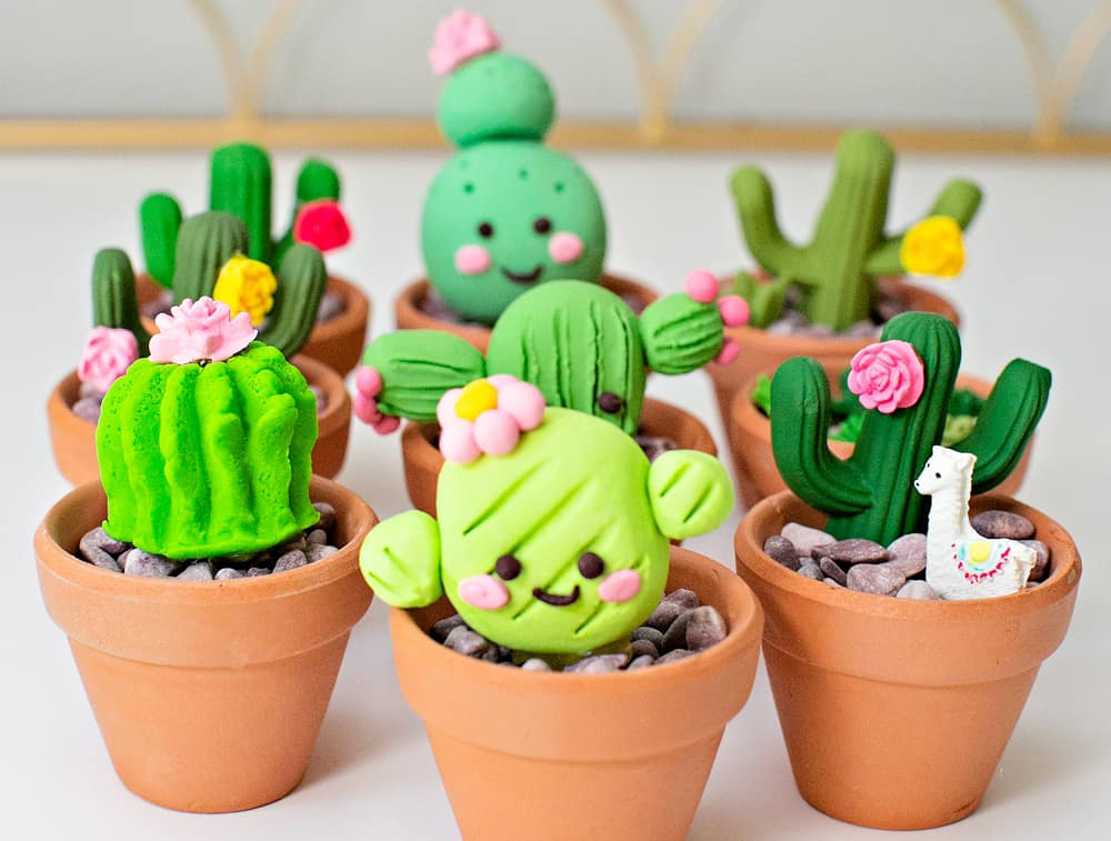diy clay cactus