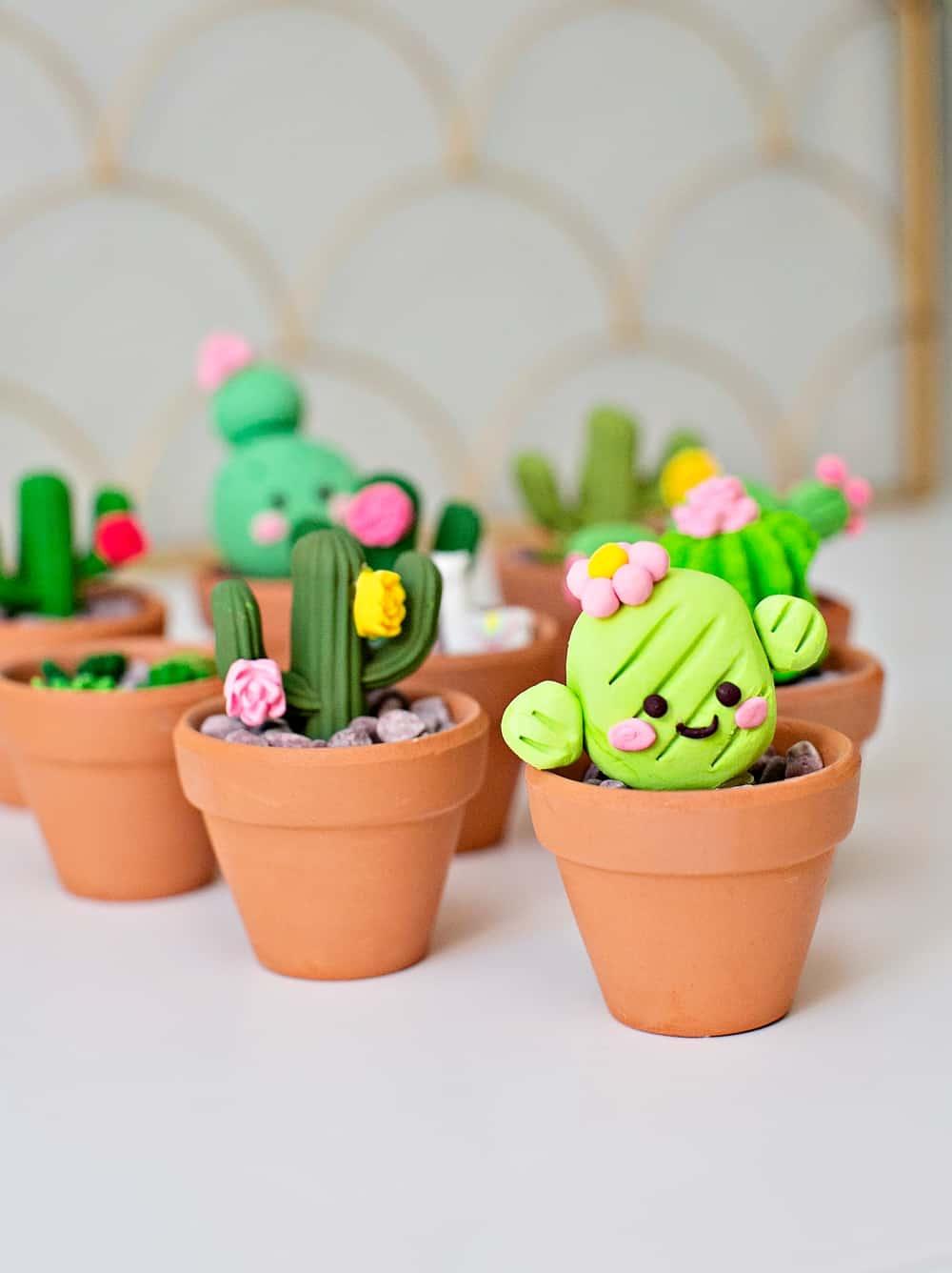 clay cactus succulent craft