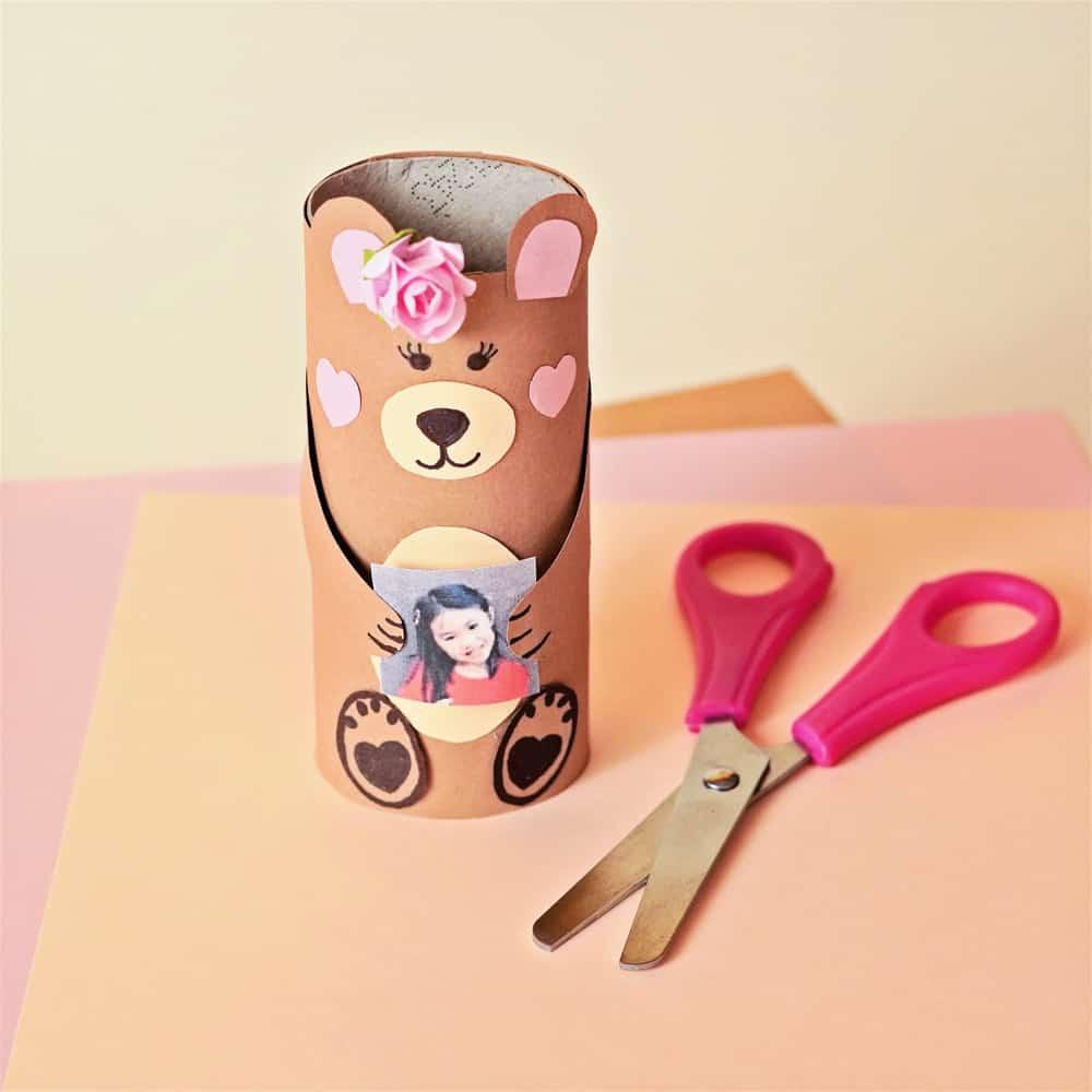 MAMA BEAR CRAFT - paper tube bear