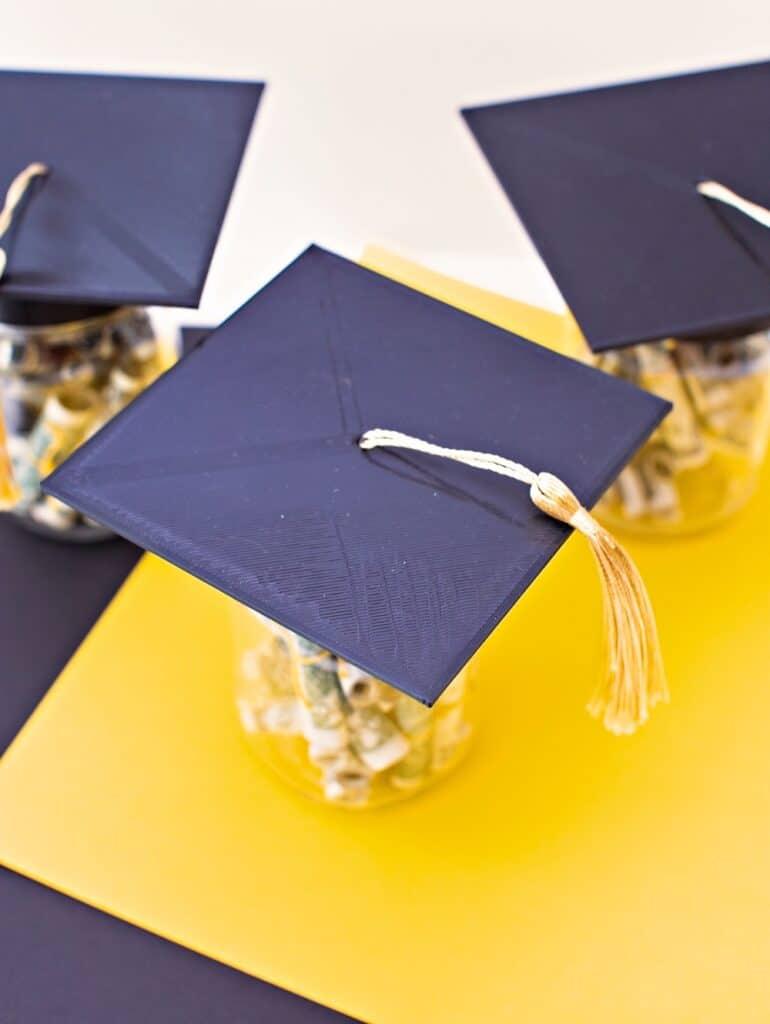 graduation money jar lids