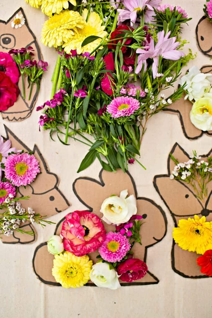 flower nature craft for kids