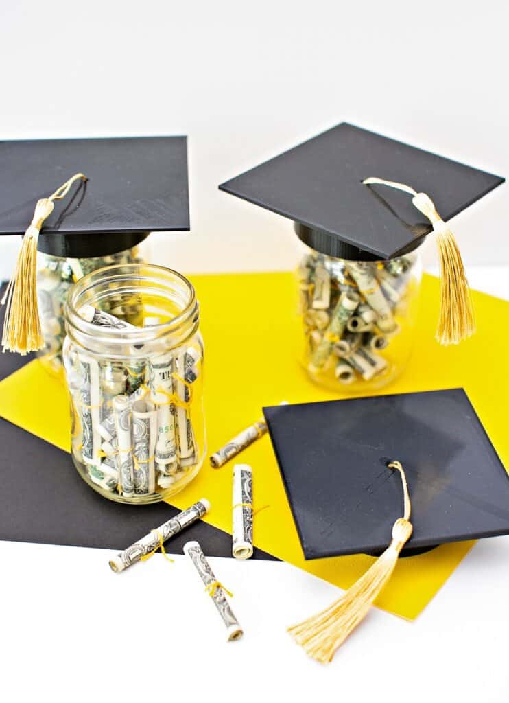 GRADUATION MONEY GIFT JAR IDEA