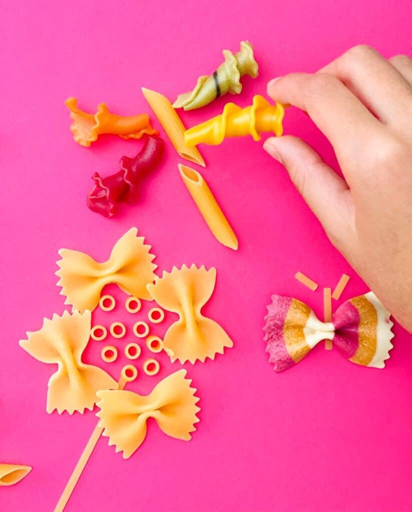 flower pasta art