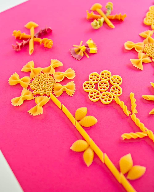 pasta flower craft