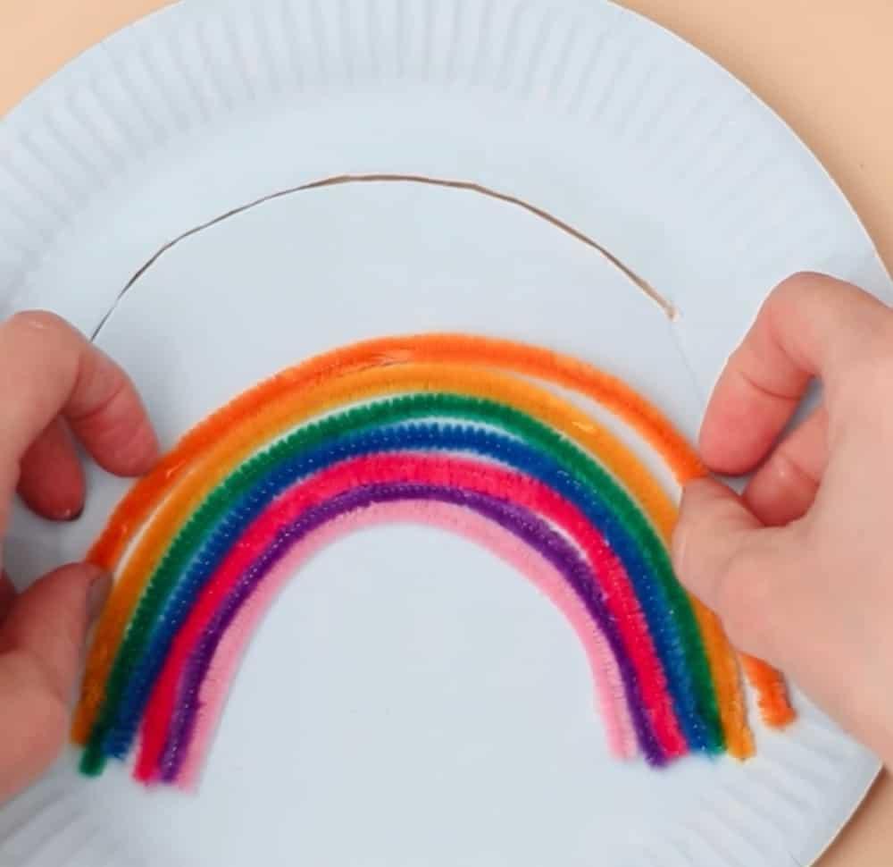 rainbow paper plate craft