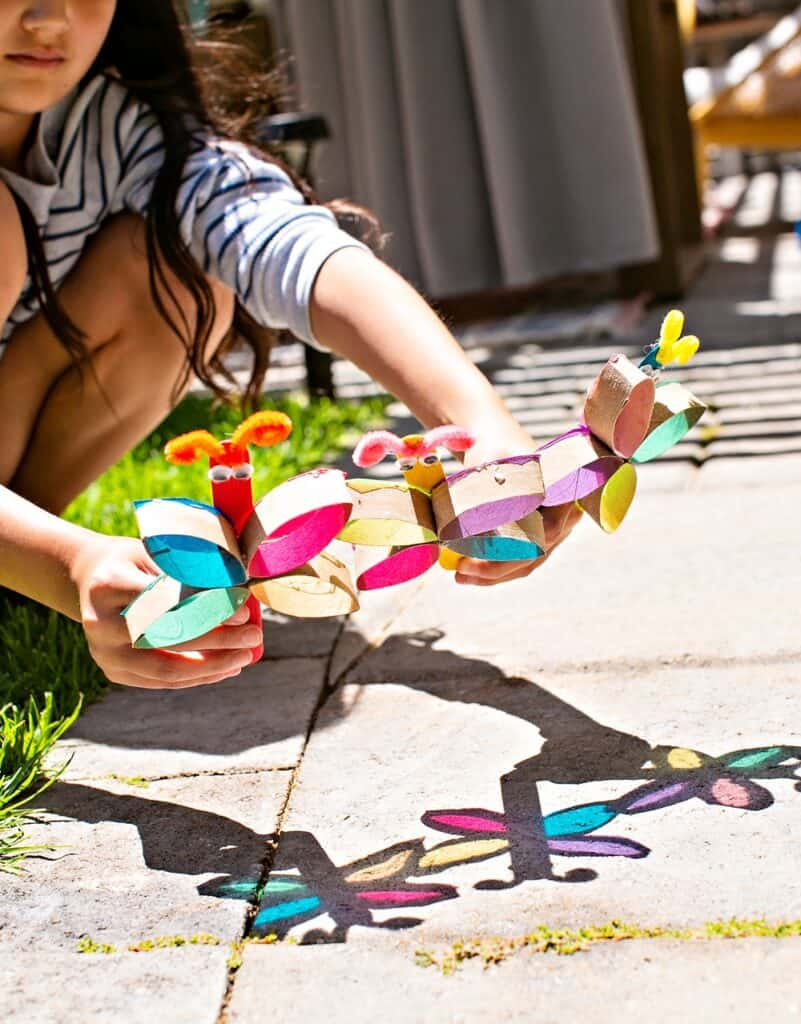 popsicle butterfly craft suncatcher