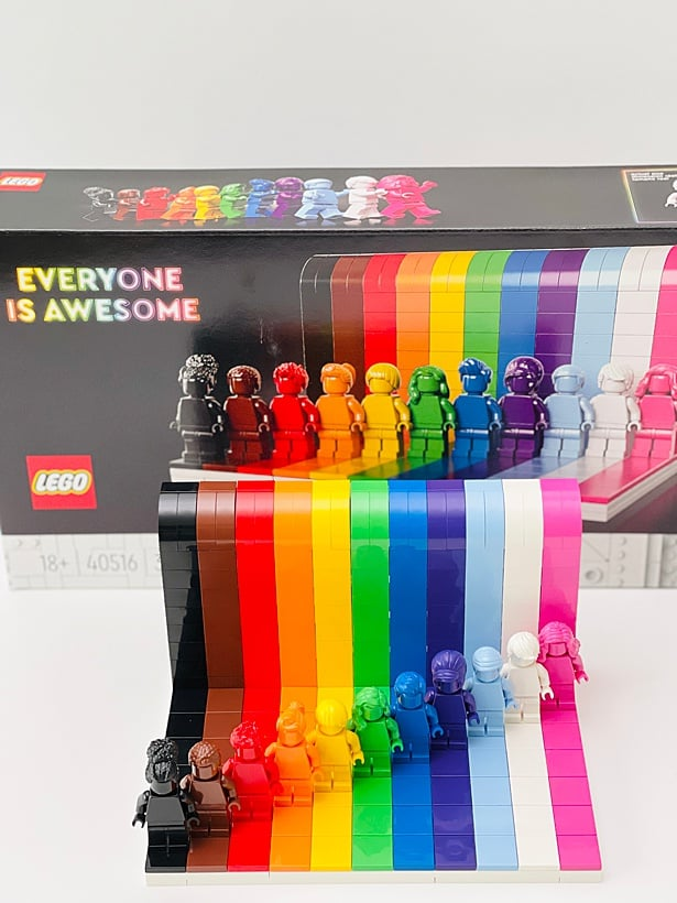 Everyone is Awesome Pride LEGO