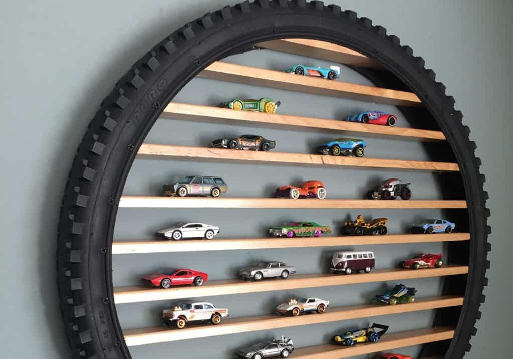 Hot Wheels Car Tire Display