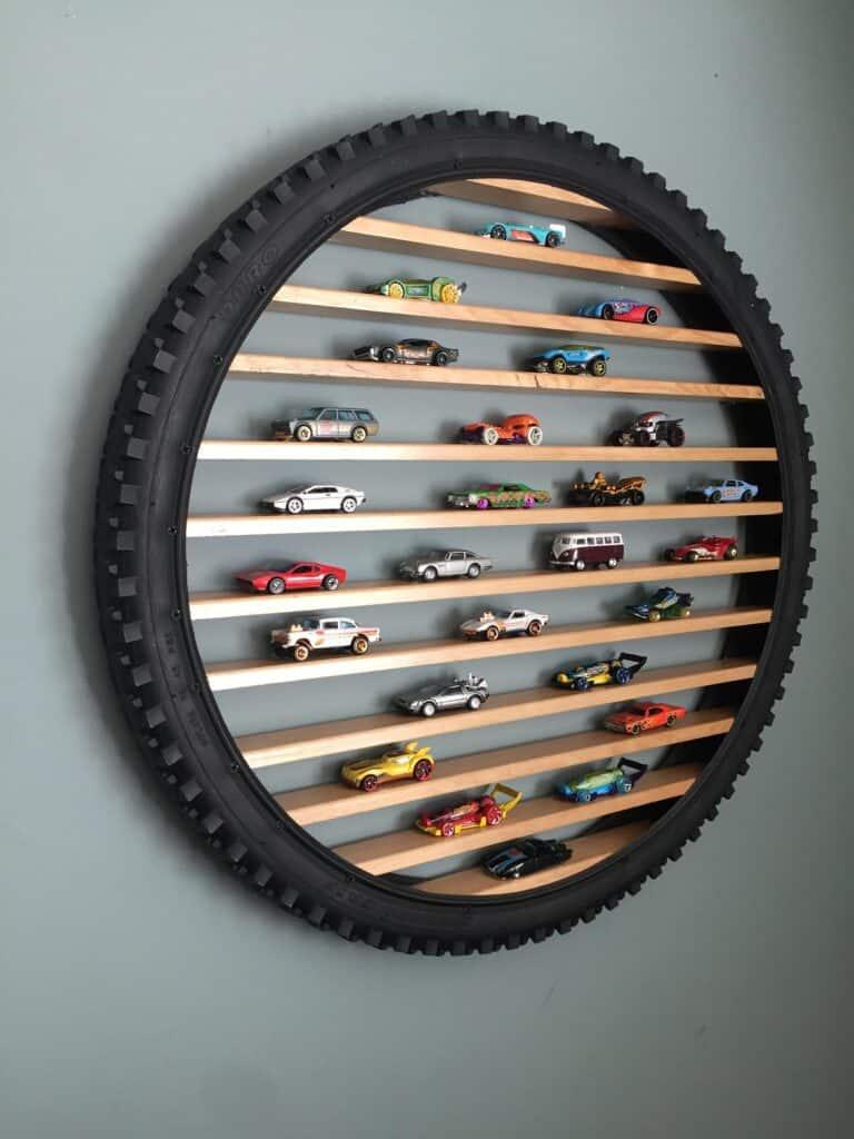 Hot Wheels Toy Car Tire Display