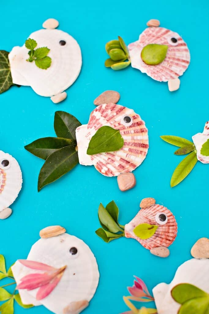 seashell summer fish craft