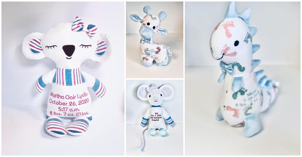 plushies made from baby blankets