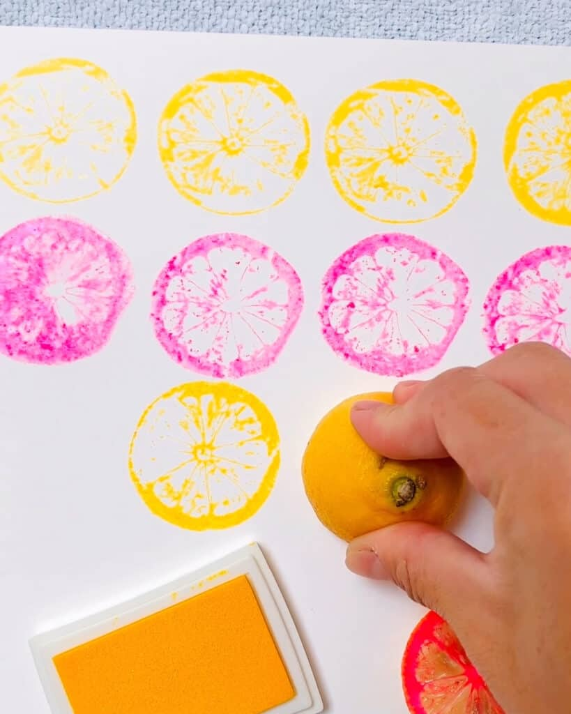 lemon fruit stamping