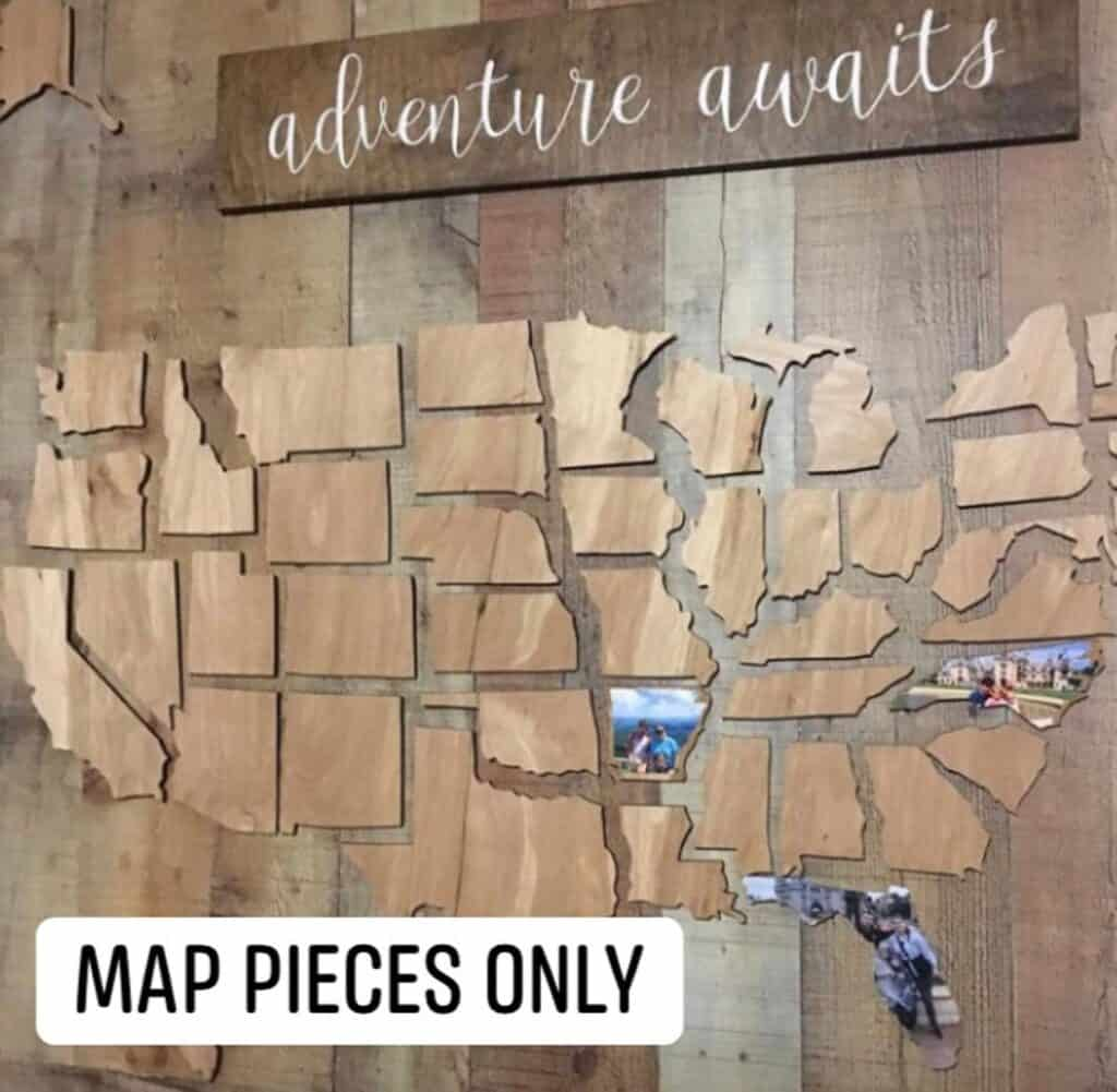 travel marking map diy