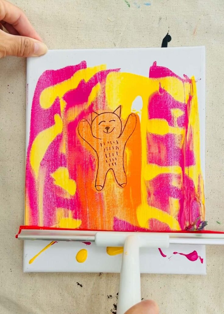 SQUEEGEE PAINT DRAWING