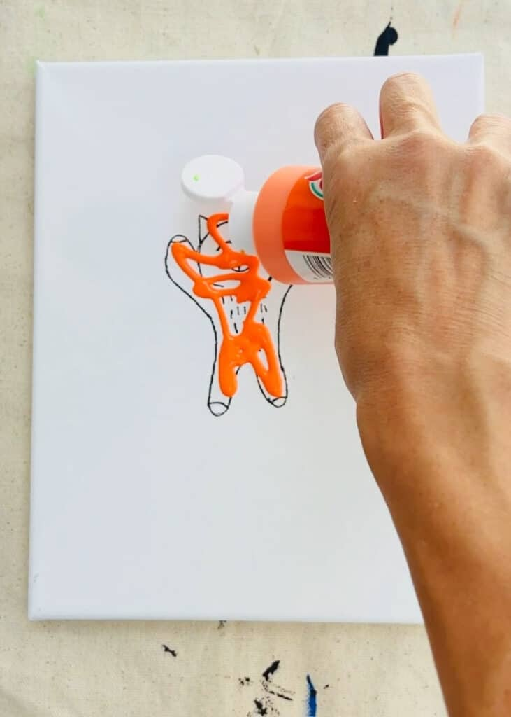 squeegee drawing painting