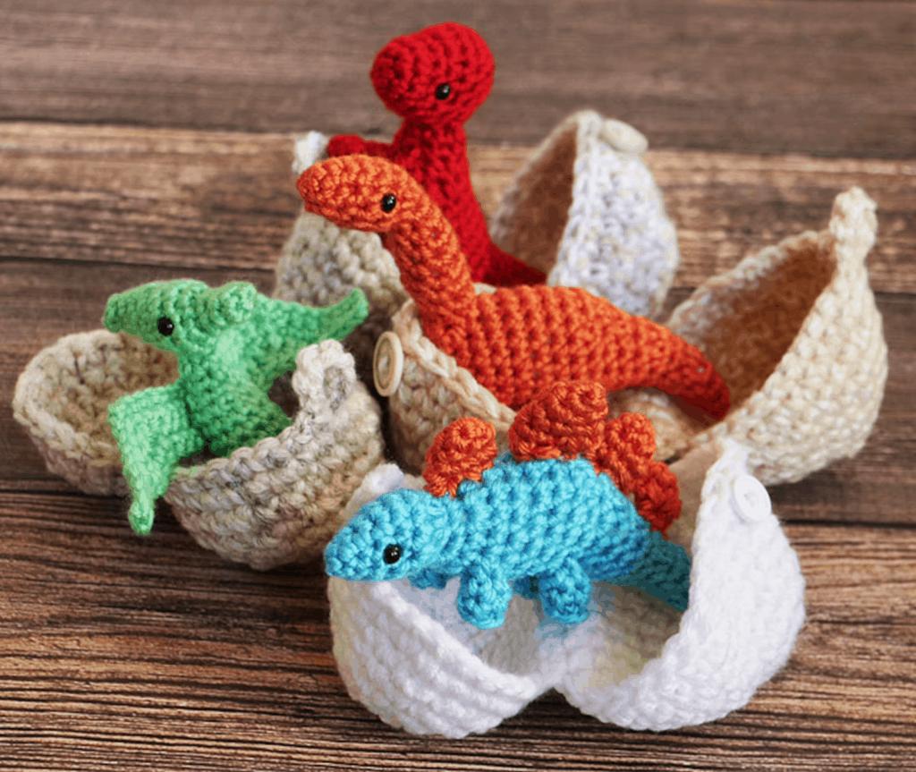 dinosaur crochet eggs
