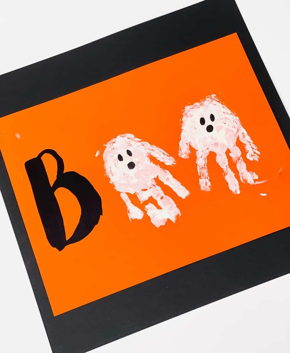 ghost handprint art
