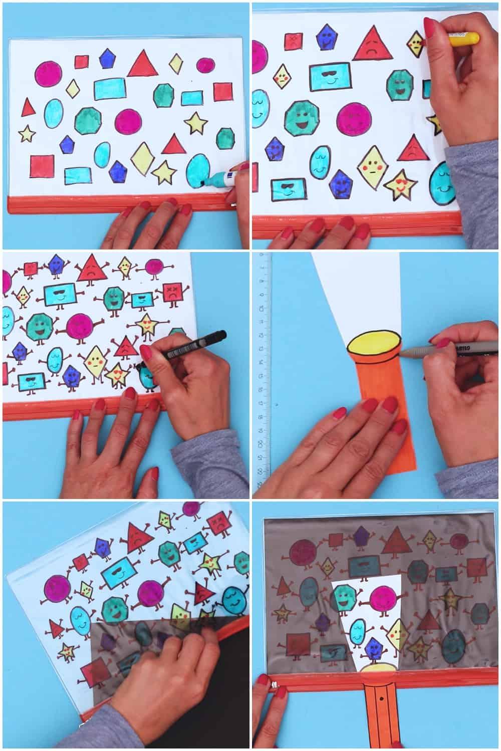 shape learning flashlight craft
